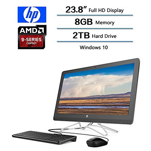 2018 Newest Flagship HP 23.8 AIO Full HD All-in-One Desktop, AMD A9-9400 Processor 2.4 GHz, 8 GB DDR4 Memory, 2TB Hard Drive, Windows 10 Home W/Optical Drive, Keyboard and Mouse