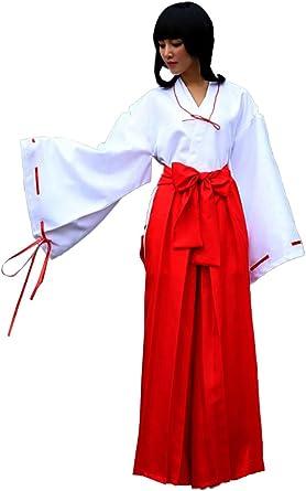 Womens Miko Costume Kikyo Style Japanese Cosplay