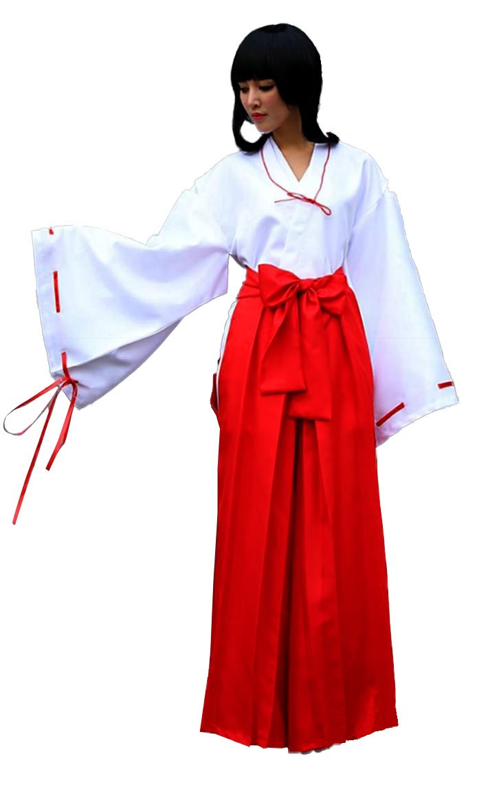 TOKYO-T Inuyasha Kikyo Miko Costume Japanese Hakama Cosplay (L)