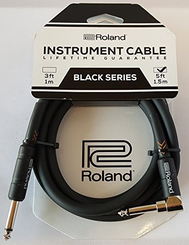 Roland RIC-B5A Black Series 5' Straight to Angled Instrument Cable