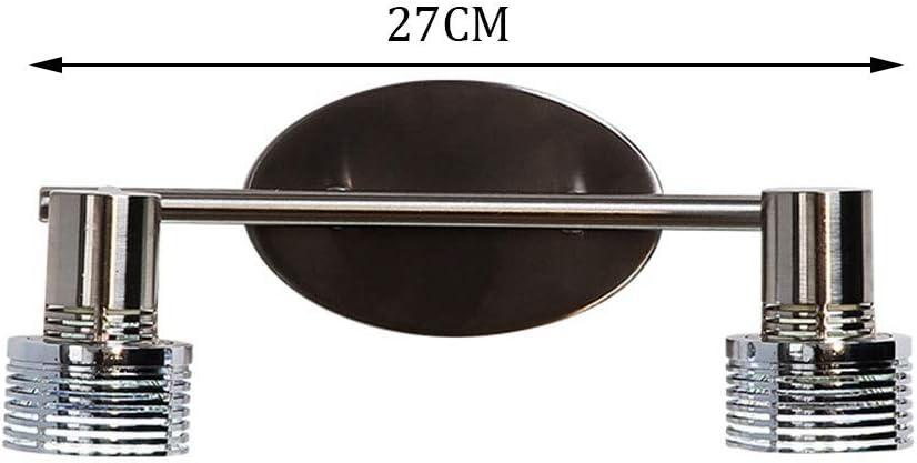 Bad Spiegelleuchten Spiegel Frontleuchte LED Wandleuchte Einzel-und Doppelscheinwerfer Bad Badezimmer Make-Up Lampe Hotel Wandleuchte [Energieklasse A +] (Farbe : Warmes licht-A) Warmes Licht-b