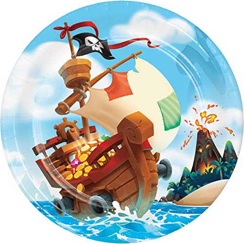 Treasure Island Pirate Paper Plates, 8 ct ()