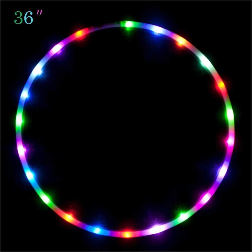Maikerry 36'' Led Hula Hoop for for Kids and Adults Changing LED Lights Light Weight Hula Hoops by Maikerry