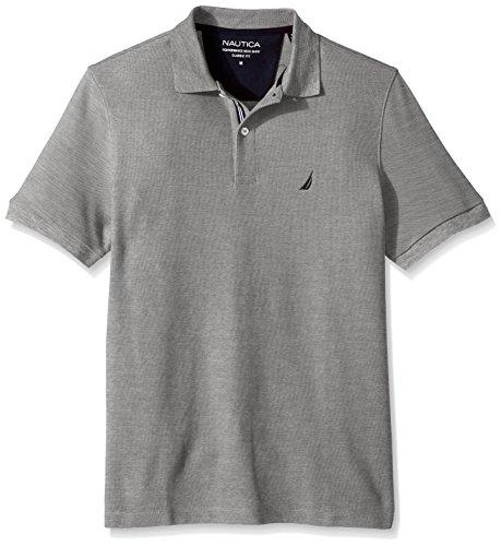 Nautica Mens Short Sleeve Solid Shirt