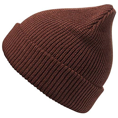 MaxNova Slouchy Beanie Hats Winter Knitted Caps Soft Warm Ski Hat (Brown)