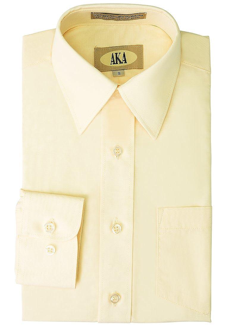 AKA Boys' Formal Dress Shirt White, Black, Burgundy & Pink for Special Occasion 130-$PB