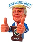 "Donald Trump Doll Bobblehead Style 2 THUMBS UP MAGA ""BOBBLING HANDS"" - BOBBLE FINGER GIFT BOX"