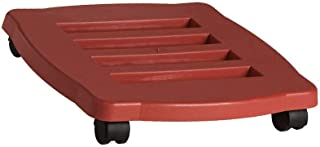 product image for Bloem Square Planter Caddy, Terracotta Color, 15-Inch