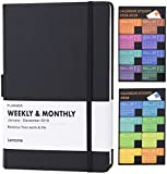 Planner 2018 with Pen Loop -Academic Weekly, Monthly and Yearly Planner. Thick Paper to Achieve Your Goals & Improve Productivity, 5.75″ x 8.25″, Inner Pocket with 58 Bonus Notes Pages – lemome