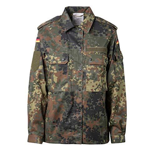 FLECKTEX Original Damen BW Feldbluse Flecktarn 5- Farbig für Frauen | Bundeswehr Kampfbluse und Survival Bluse…