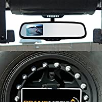 Brandmotion 9002-8845 Jeep Wrangler Adjustable Rear Vision System With Mirror Display 2007-Current