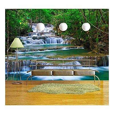Premium Creation, Beautiful Composition, Deep Forest Waterfall in Kanchanaburi Thailand
