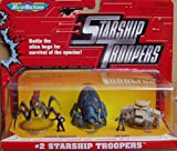 Galoob Micromachines STARSHIP TROOPERS Drop Ship Plasma Bug Warrior Bug SET
