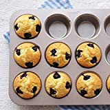 CHEFMADE 12 Cups Muffin Pan Set, 2 Packs Bakeware