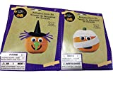Halloween Pumpkin Decorated Kits Set of 2 with One Witch Costume and One Mummy Costume