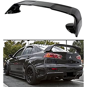 Cuztom Tuning For 2008 2017 Mitsubishi Lancer EVO 10 X Style Painted Black  Rear Trunk
