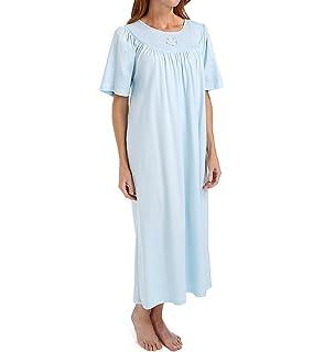 Calida 100% Cotton Knit Long Sleeve Nightgown at Amazon Women s ... 930592e78