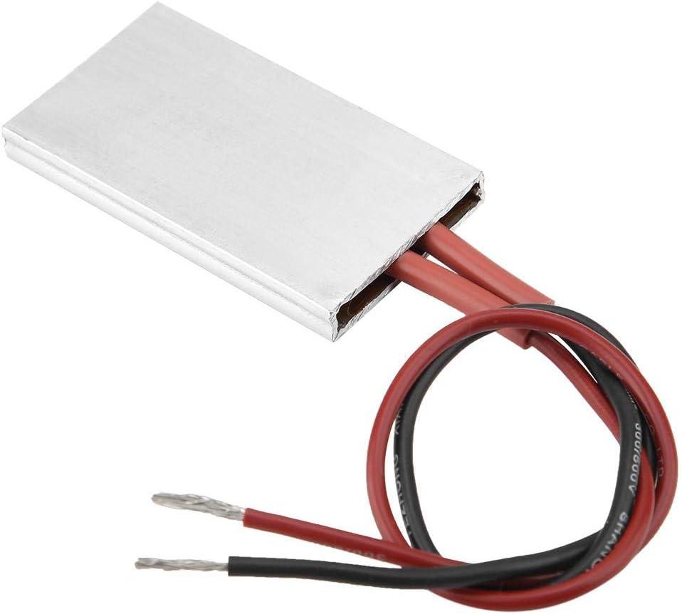 Placa Calefactora PTC de Aislamiento, Segura y de Alta Confiabilidad, Carcasa de Aluminio de 50 × 28,5 mm Elemento Calefactor PTC Placa Calefactora Termostática(24V/120℃)