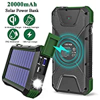 Solar Charger Power Bank 20000mAh, 18W Q...