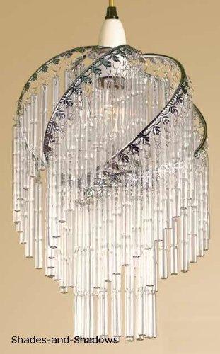 Lights4less - varilla de vidrio GL42 C transparente y cromo ...