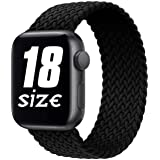 D'VOGUE Braided Solo Loop Sports Strap Elastic Bands Compatible for Apple Watch, Stretchy Sports Unisex Wristband with…