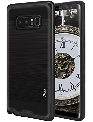 Galaxy Note 8 Case, TAURI [Shock Absorbent] Slim Brush Texture Hybrid Defender Armor Protective Case Cover For Samsung Galaxy Note 8