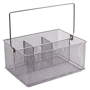 Mesh Condiment Caddy-Silver: Amazon.co.uk: Kitchen & Home