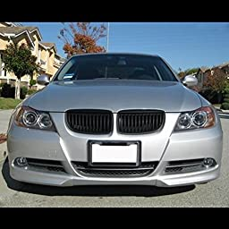 Glossy Black Euro Front Hood Kidney Grille For BMW E90 323i 325xi 330i 328i 328xi 335i 335xi Pre-Facelift