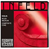 Thomastik Infeld IR100 Red Violin Strings, Complete Set, 4/4 Size, Synthetic Core