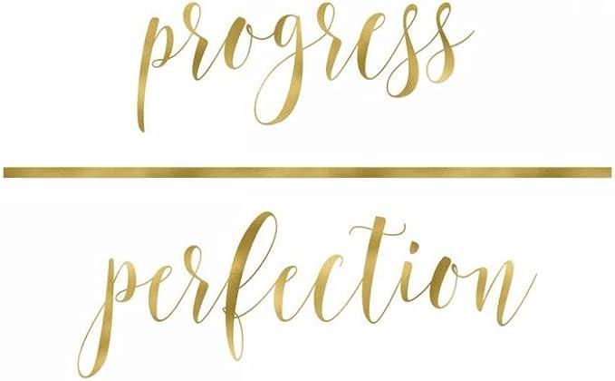 Progress Not Perfection Rainbow Quote Print