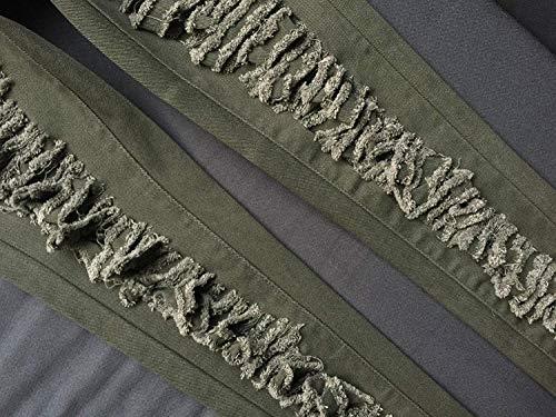 Normal Grün1 Stretch Mezclilla Casuales De Pantalón Pantalones Delgada Elásticos Huixin Vaqueros Mujer Cintura wF7n0zq