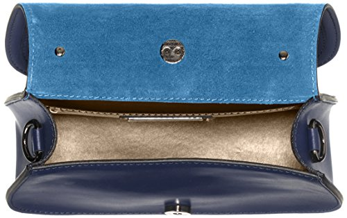 Chicca Borse 8812, Borsa a Spalla Donna, 23x17x8 cm (W x H x L) Blu (Blue)