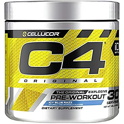 C4 Original Pre Workout Powder ICY Blue Razz | Vitamin C