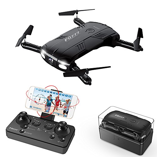Price comparison product image RC Quadcopter Drone with 2.0MP Camera Live Video Foldable Arms Pocket Mini Drone for Beginners 2.4G 6-Axis Headless Mode RTF Helicopter