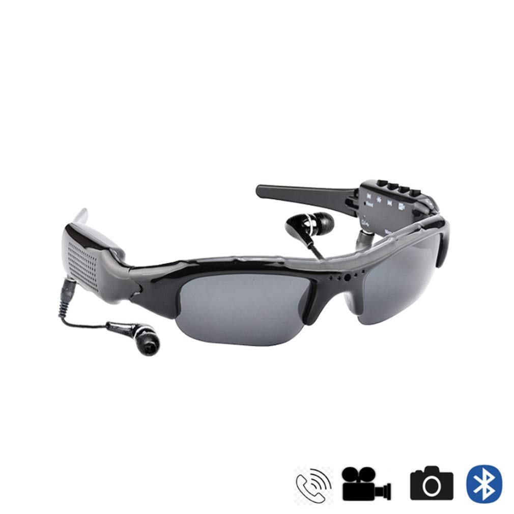 Sunglasses Bluetooth Eyeglasses 1080P VCR Bluetooth Headsets Handsfree Cycling Glasses Sports Sunglasses with Interchangeable Lenses for Night Vision