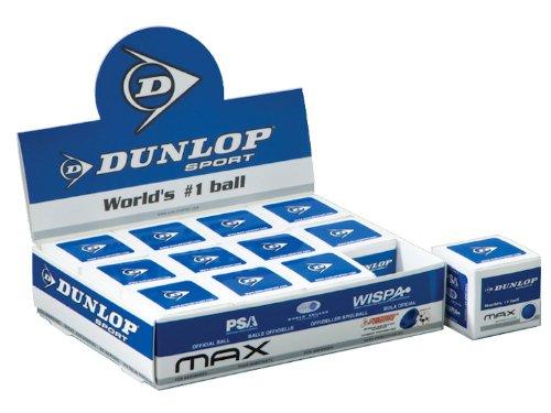Dunlop Balles de squash Max (Single Boule Boîtes) Douzaine Balles 1255.38266