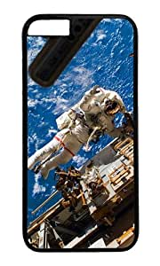 MOKSHOP Adorable astronaut in space Hard Case Protective Shell Cell Phone Cover For Apple Iphone 6 (4.7 Inch) - PC Black