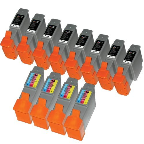 LD Compatible Ink Cartridge Replacements for Canon BCI21 (8 Black, 4 Color, 12-Pack)