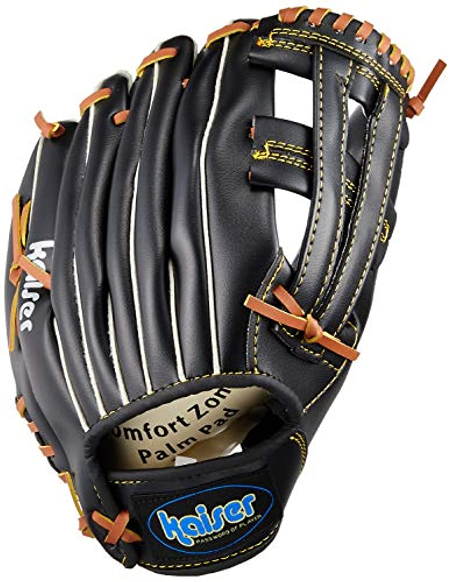 [해외] KAISERkaiser 글러브 잠자리 12인치 블랙 KW-323 야구 캐치 볼 연습용 일반용 연식용 레져 패밀리 스포츠