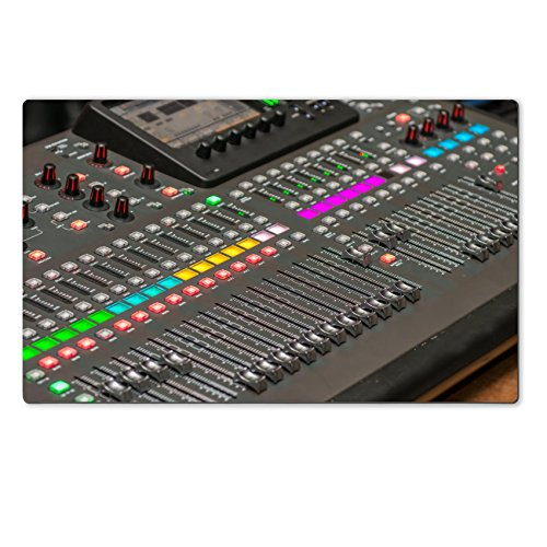 MSD Natural Rubber Large Table Mat Image ID 27238113 Sound console detail DJ and audio operator equipment to produce a musical production