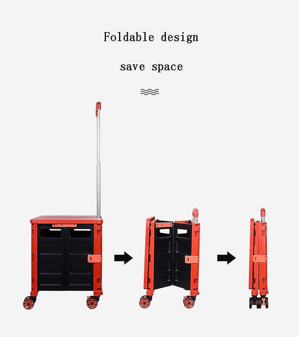 CWYPC Einkaufswagen, Klappbar Einkaufstrolley 2 In 1 Multifunktional Größerer Stauraum 48 L 36cm*40cm*105.5cm Yellow