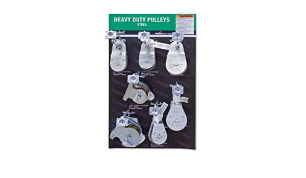 Display Assortment Campbell DD0720176 22 Piece 15 x 9.5 Heavy Duty Pulleys I Core Board