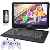 15.6 Inch Portable DVD Player for Car with Games Function for Kids, USB/SD Slot (Black)