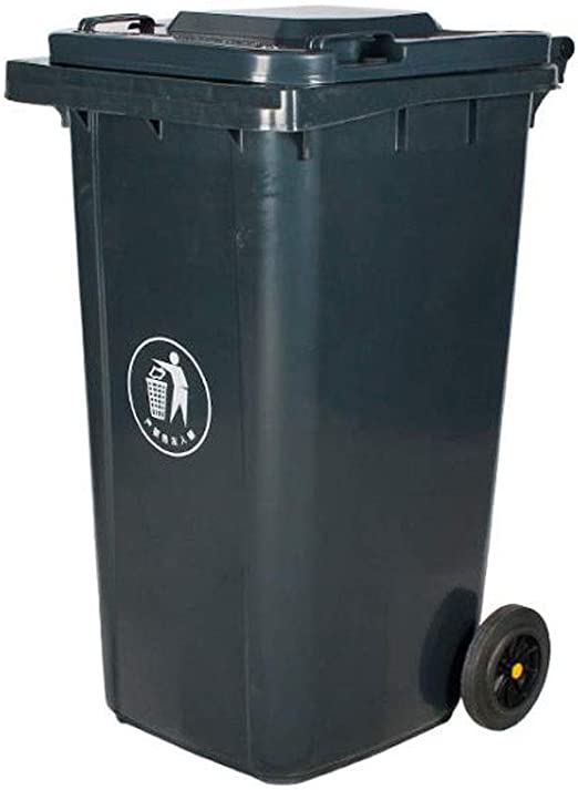 Cubo de Basura, Cubo para Exterior, Gran contenedor de basura para exteriores, Calles de patio y jardín Reciclaje de basura Contenedor de basura, Contenedor de basura de plástico duradero para el hoga:
