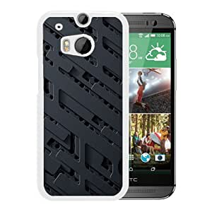 Carved Metal Plate (2) Durable High Quality HTC ONE M8 Phone Case