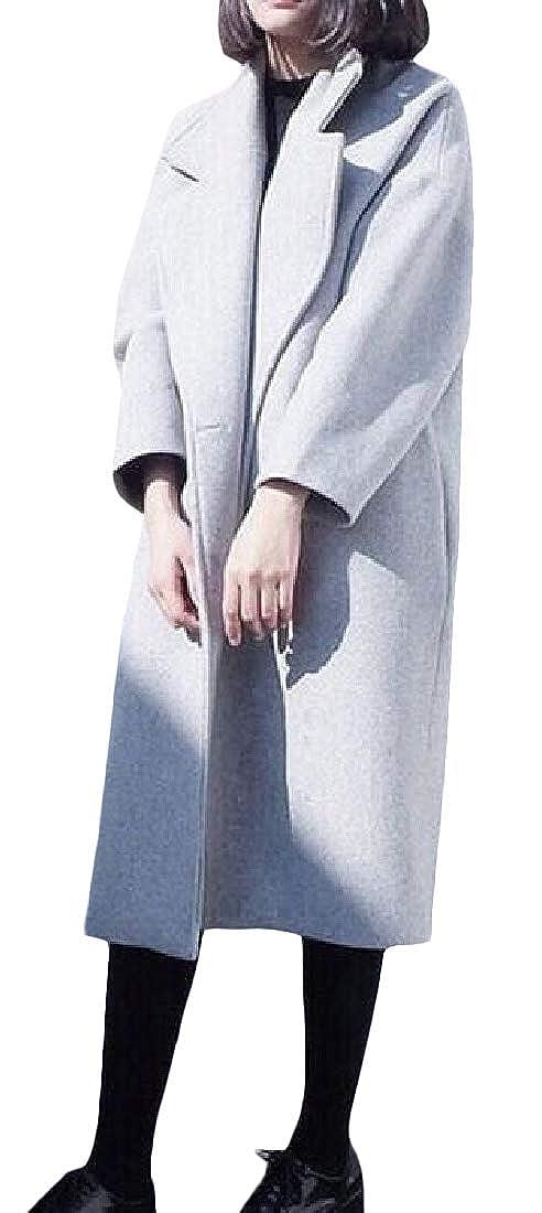 Pandapang Womens Thick Winter Casual Long Outwear Overcoat Peacoats
