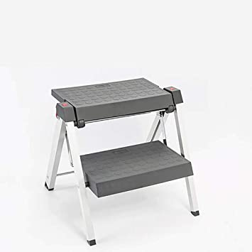 Compacto Escalera,taburete Portátil Plegable Escaleras De Mano Antideslizante Aluminio Aleación Ligero Multifunción Escalera Para Cocina Inicio-a2: Amazon.es: Bricolaje y herramientas
