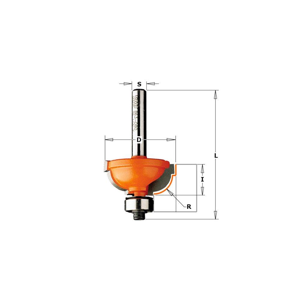 CMT Orange Tools 964,048,11-fraises hm rodam profil/ées avec 8 r s d 25,4 4,8