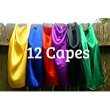 Super Hero Capes Children Party Favors Set of 12
