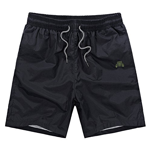 Vogyal Men's Swim Trunks Bathing Suits Solid Beach Shorts with Pockets